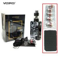 Original Electronic Cigarettes VOOPOO Drag 2 Kit 177w Box Mod Vape Kit Vape Vaporizer with UFORCE T2 Tank Mesh Coil VS Shogun
