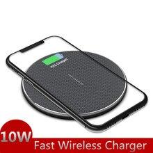 Chargeur à Induction 10W rapide Qi chargeur sans fil sans fil tapis de charge filaire pour Xiaomi Mi9 t Samsung S10 iPhone 11 Huawei P30