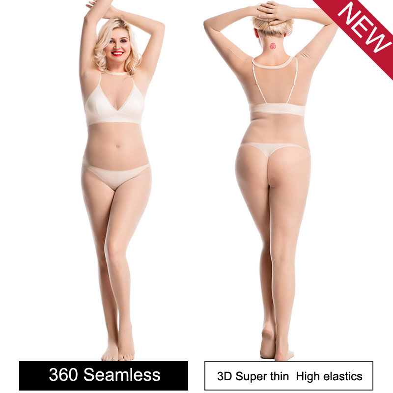 3D Super Thin Seamless Lycra Bodystocking Sexy Hot Erotic Babydoll Open Crotch Bodysuit Five Fingers Toes One Piece Tights Body