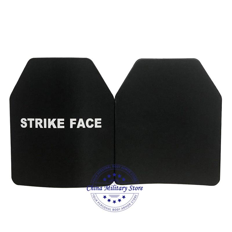 2pcs USA NIJ Standard 0101 06 Level III Bulletproof Steel Plate Steel Ballistic Armor Plates