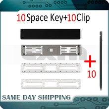 Lote de 10 unidades de llaves de barra espacial para ordenador portátil, con Clip para Macbook Pro, Retina de 13