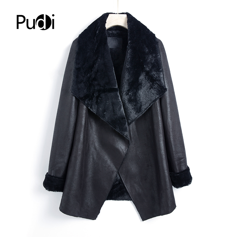 Pudi QY801 2019 New Fashion Women Coats And Jackets Autumn Spring Long Coat Overcoats Casual Outwear Brown Black Color