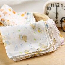 10 шт. детское полотенце для кормления Плюшевый Медведь Кролик точка диаграмма печатных детей маленький платок Марля s кормящих YYT308