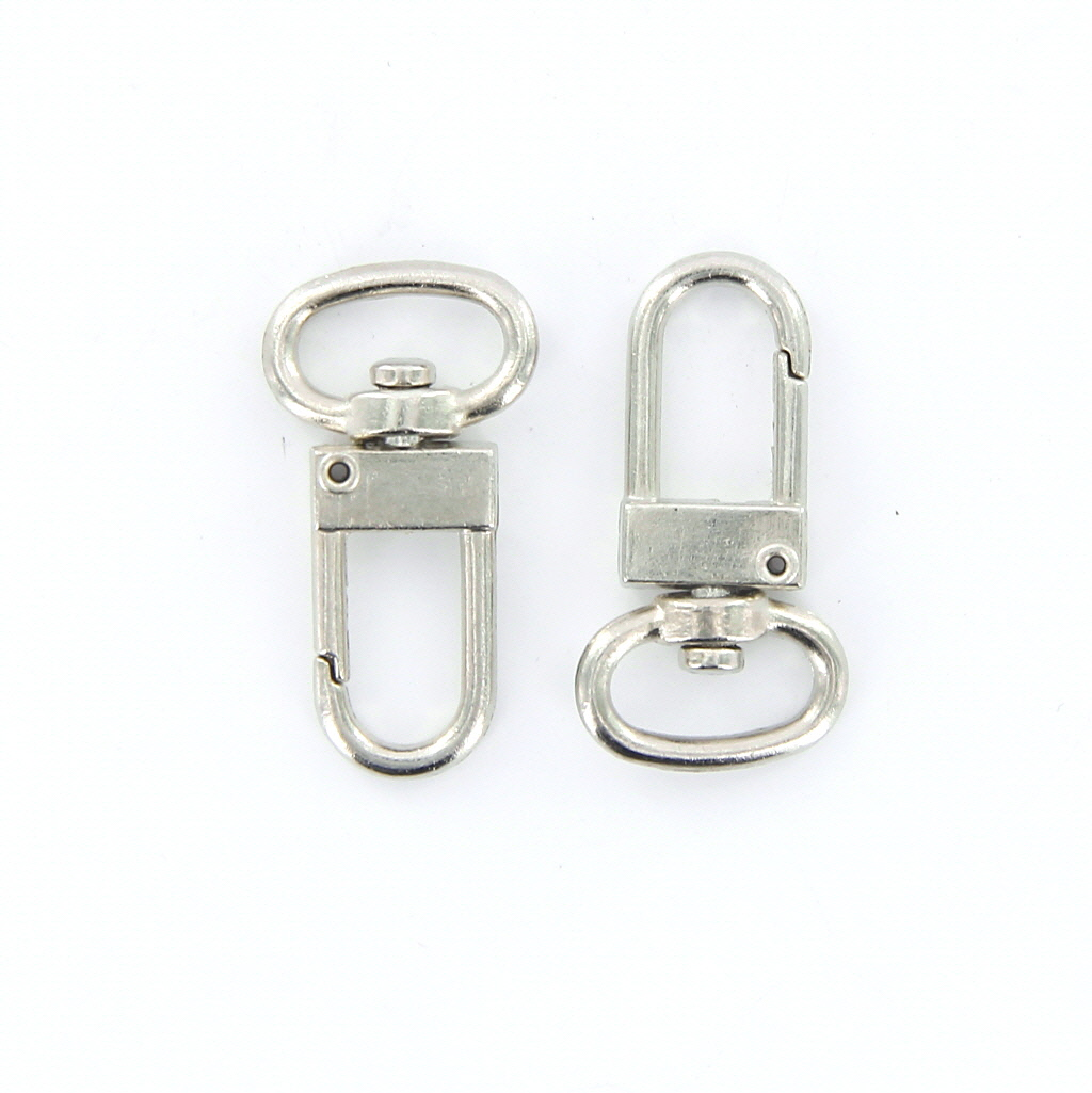 10pcs 360°Swivel Trigger Snap Hooks 18mm x 33mm Silver