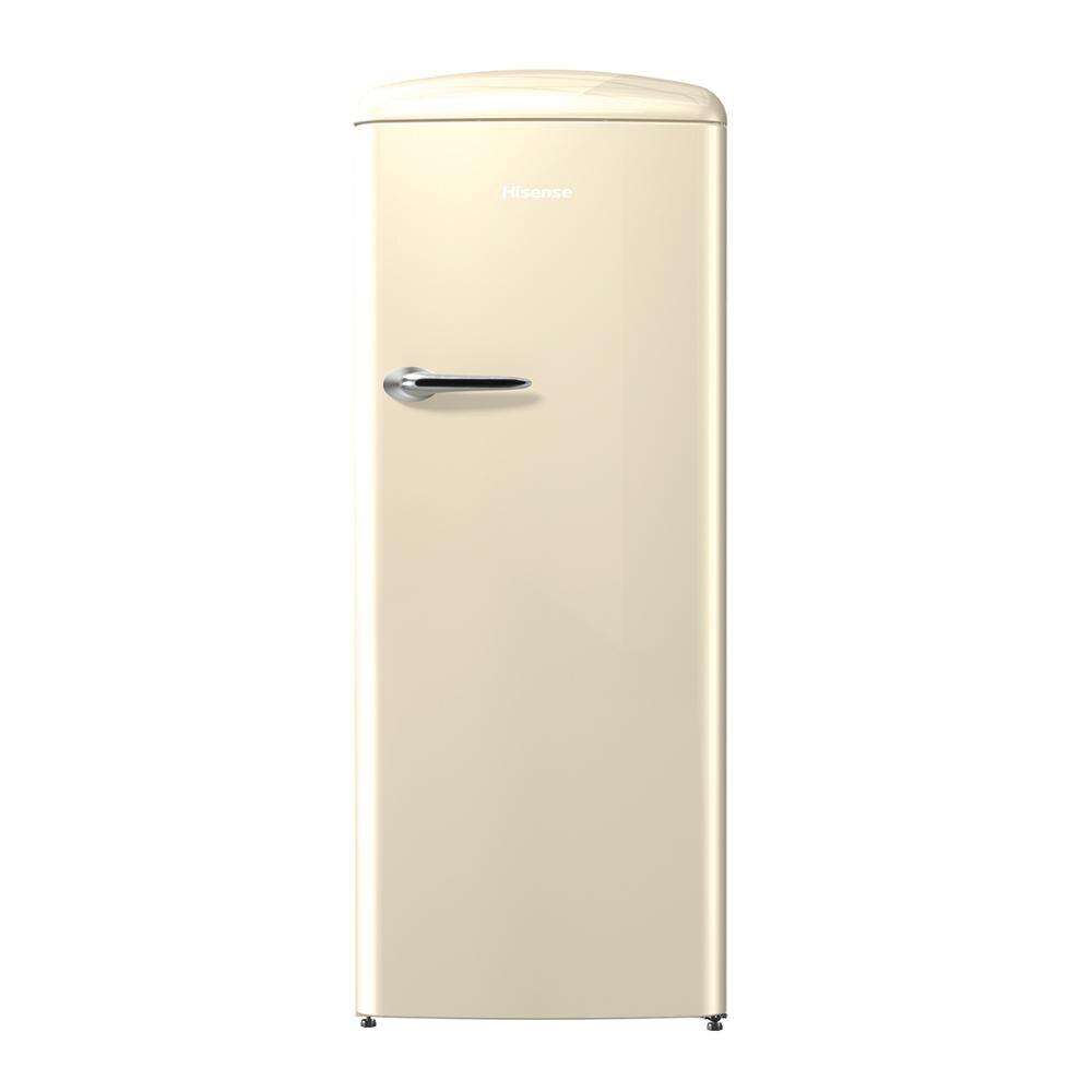 Hisense RR330D4AY2 réfrigérateur, réfrigérateur, 254 litre, faible bruit, Design vintage, couleur crème, pas classe givre à + + - 4