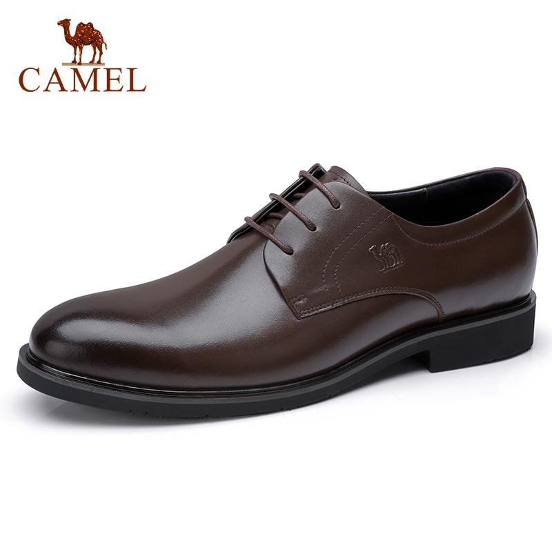 الجمل الأعمال الزفاف اللباس أحذية انجلترا جلد طبيعي ضوء لامع لينة أحذية من الجلد الرجال أنيقة ديربي رجل حذاء كاجوال-في أحذية رسمية من أحذية على  مجموعة 1