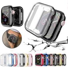 Funda para reloj para Apple Watch Serie 6 5 4 3 2 1 caso 42mm 38m 40mm 44mm TPU carcasa de pantalla Protector para iWatch 6 5 4 44mm
