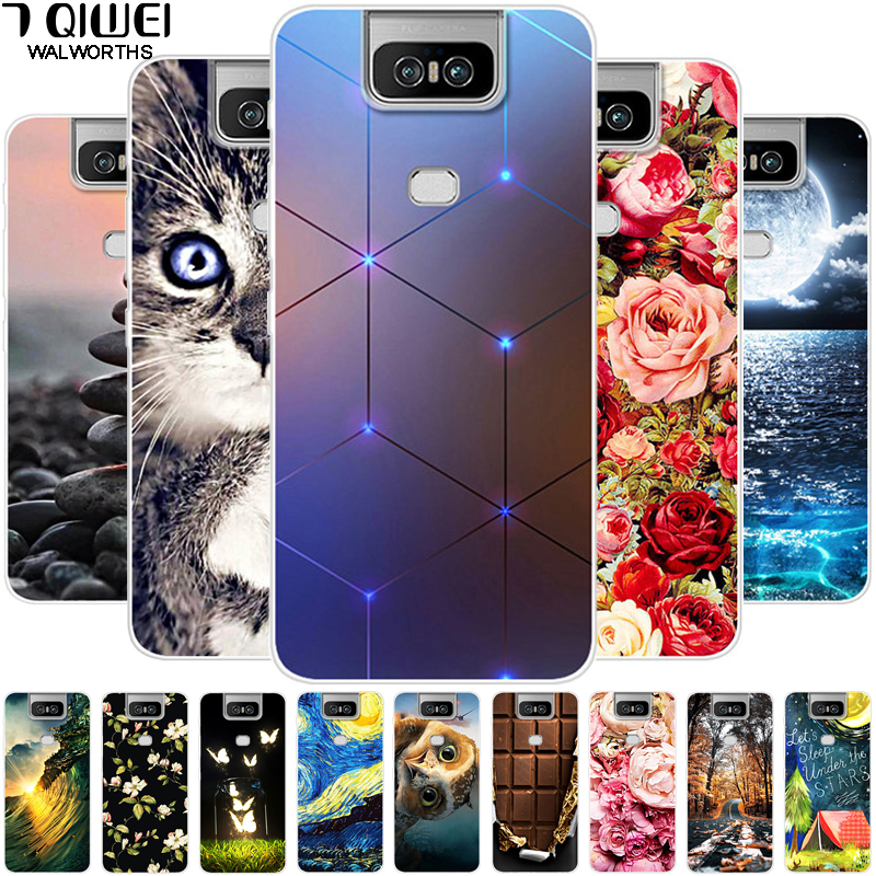 <font><b>Case</b></font> For <font><b>Asus</b></font> <font><b>ZenFone</b></font> <font><b>6</b></font> <font><b>2019</b></font> ZS630KL Cover Soft TPU Silicone <font><b>Case</b></font> For <font><b>Asus</b></font> <font><b>ZenFone</b></font> <font><b>6</b></font> ZS630KL Back Cover for <font><b>Asus</b></font> ZenFone6 6Z image