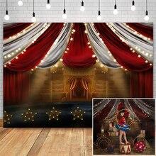Circo tema fotografia pano de fundo animal elefante decoração crianças fundo de aniversário para estúdio cabine de fotos recém nascidos crianças prop