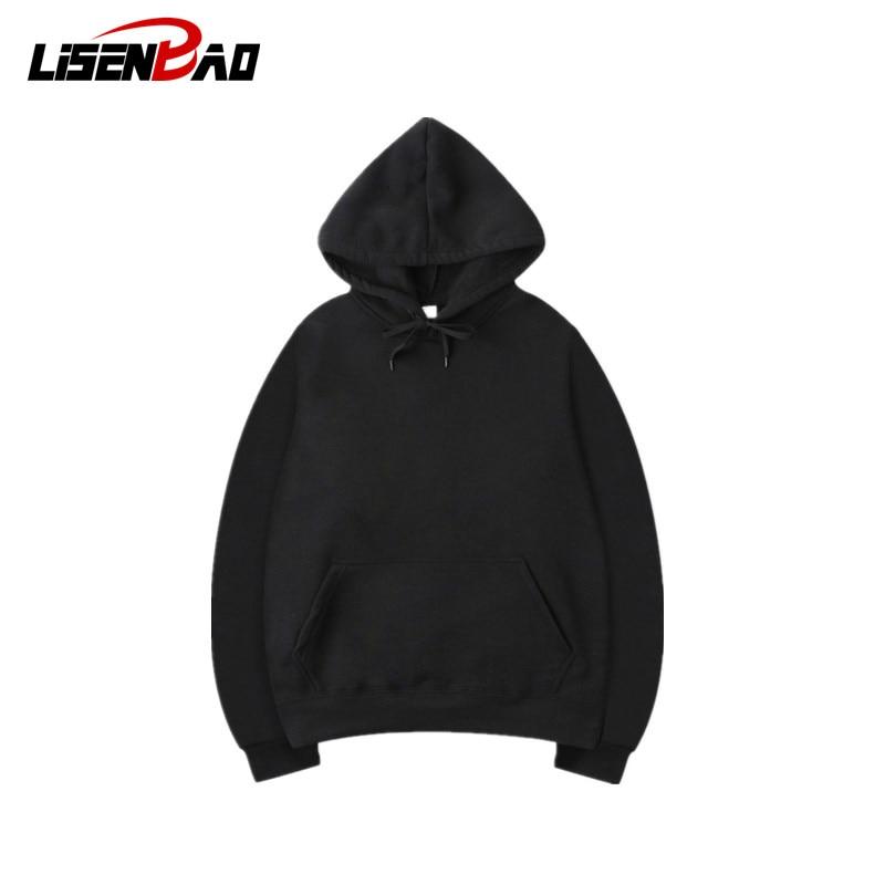 LiSENBAO Men Blank Solid Color Can Customized Multicolor Hoodies Men Hoodie Sweatshirt Frauen Hip Hop Pullover Hoodie Streetwear