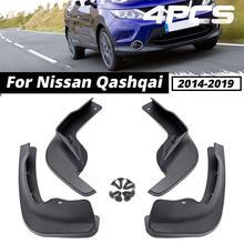 Çamurluklar Nissan Qashqai için J11 2014 2015 2016 2017 2018 2019 çamurluklar Fender Splash muhafızları çamur Flaps araba aksesuarları için