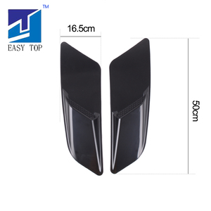 Image 5 - For Mustang 2015 2017 Black Air Intake Trim Panel Front Hood Vent Decoration
