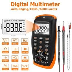 Цифровой мультиметр TRMS 6000 отсчетов Вольтметр Амперметр Омметр для постоянного и переменного тока вольт и ток, Ом, емкость, температура, Гц и ...