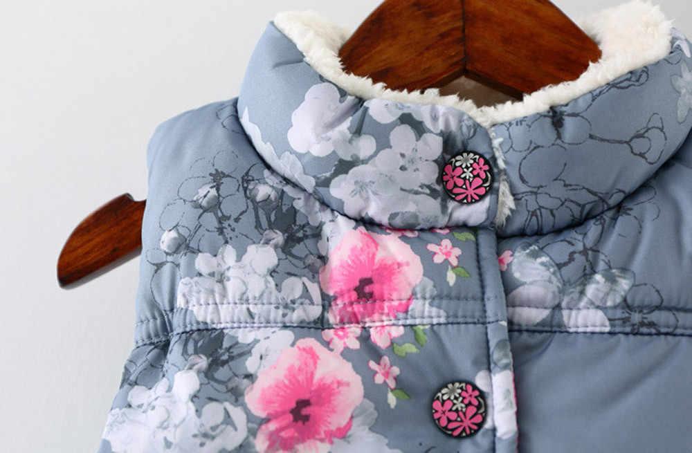 Otoño Invierno ropa para niños nuevas prendas de vestir exteriores abrigos con capucha con estampado de animales para niñas chaquetas chaleco cálido para bebés # Y1