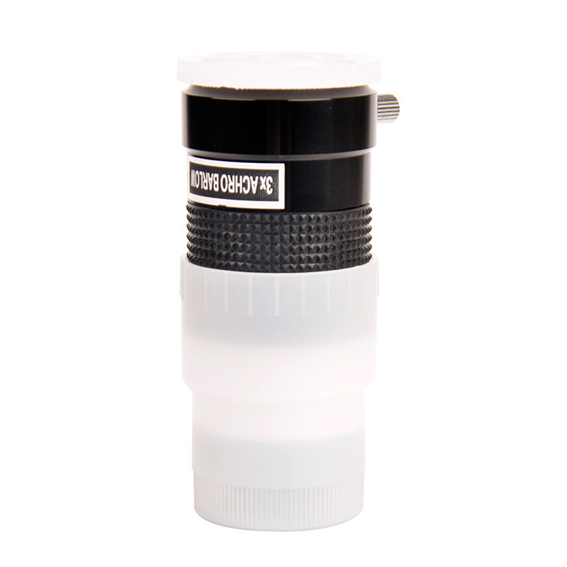 Купить с кэшбэком 1.25inch 3X Achro Barlow Lens Eyepiece Extender Full Alloy Frame+Optocal Glass with Locking Screw Astronomical Telescope