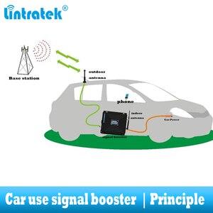 Image 2 - Lintratek araba kullanımı tekrarlayıcı Tri bant GSM 900 WCDMA 2100 LTE 1800 2G 3G 4G sinyal güçlendirici cep telefonu hücresel GSM amplifikatör araba