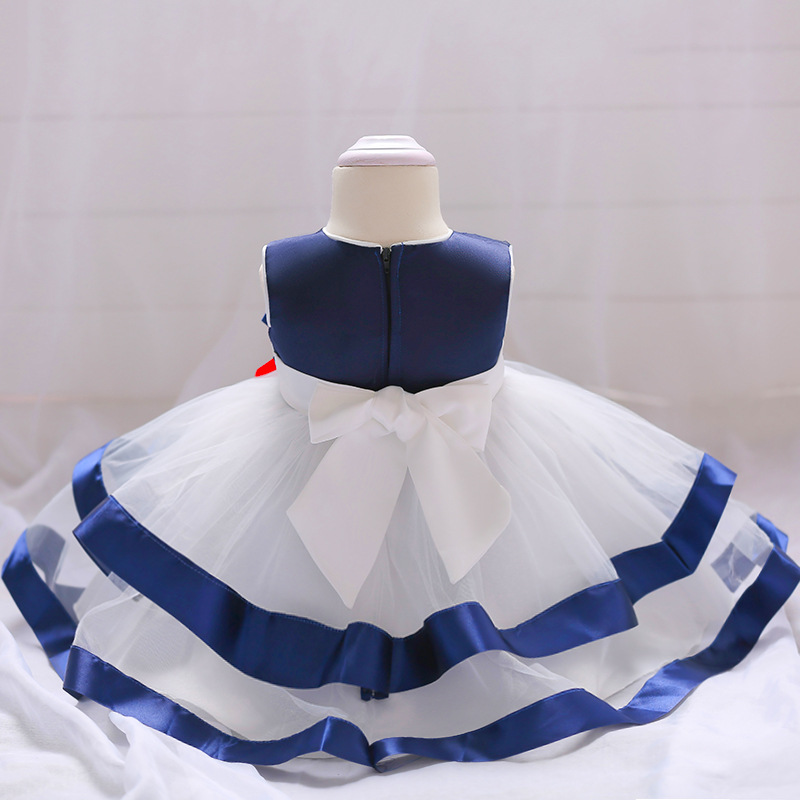 Europe And America CHILDREN'S Dress Baby BABY'S FIRST Month A Year Of Age Tutu Wedding Dress Princess Dresses Of Bride Fellow Ki