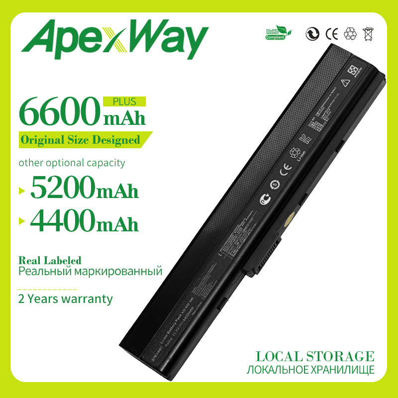 Apexway Laptop Replacement Battery A31-K52 A41-K52 A32-K52 A42-K52 For Asus  A52 A52F A52J K42 K42F K52F K52 K52J K52JC K52JE