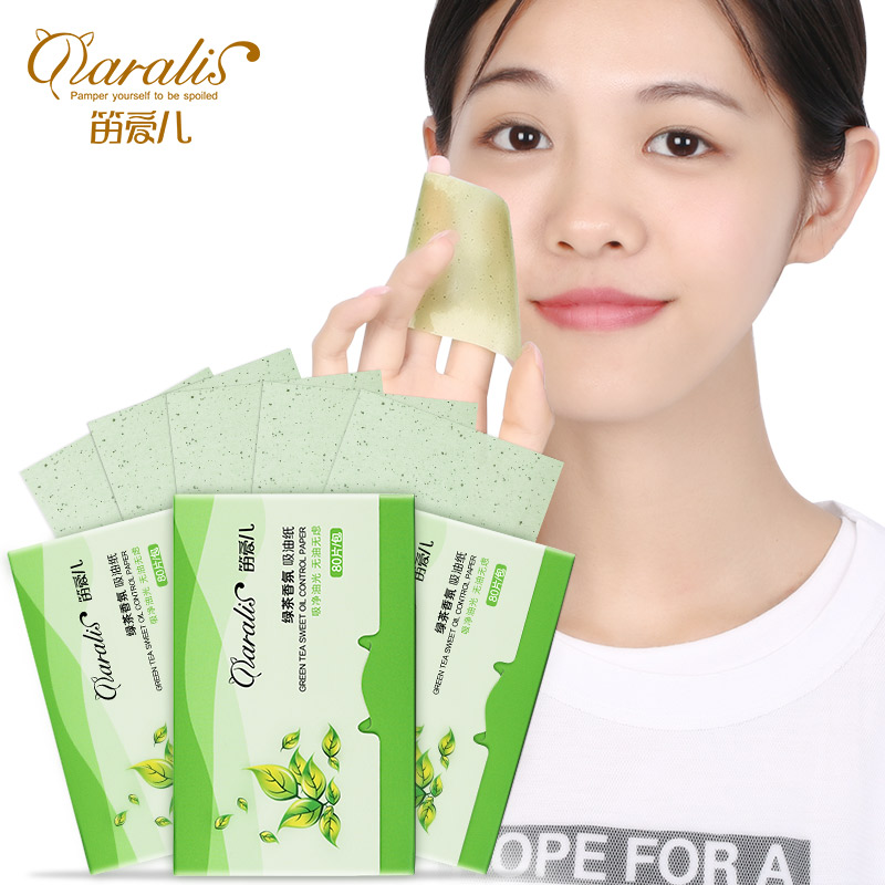 Daralis 3Pack 240Pcs Green Tea Oil Blotting Sheets Facial Absorbent Paper Oil Control For Face Care Pads Matting Tissue Matcha