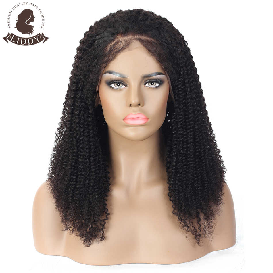 "Liddy Kinky Curly Human Hair Wig Full Lace Human Hair Wigs With Baby Hair 10""-24"" Long Hair Malaysia Human Hair Wig For Women"