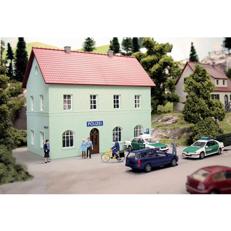 HO Ratio  1:87  Germany  Train Model Building  Police Station 61836  Sand Table Building Model  ABS  Assemble