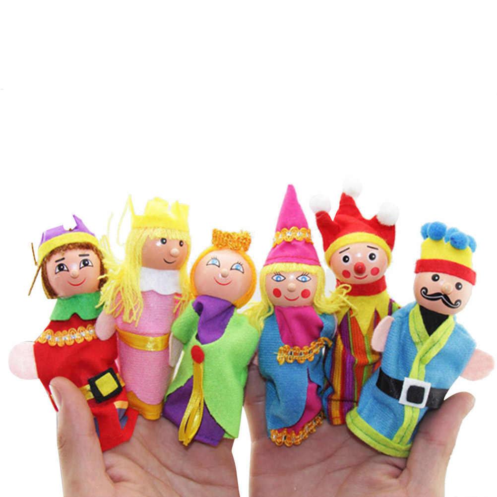 6 pièces/ensemble dessin animé Animal Figure doigt marionnette jouets enfants partie approvisionnement jouets pour enfants enfants jouets éducatifs en peluche cadeaux #50