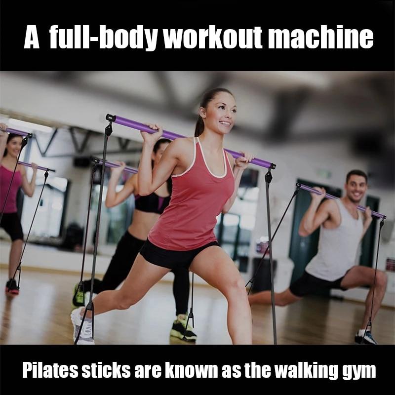 Эспандеры для йоги, кроссфита, тренажер, тянущаяся веревка, портативный тренажер для спортзала, пилатеса, бара, тренажер, эластичные ленты для фитнеса, оборудование-1