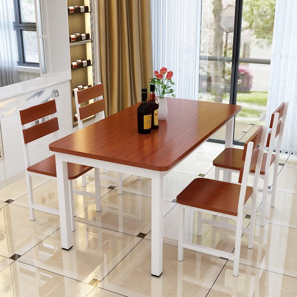 Household Living Room Table Hotel Fast Food Tables And Chairs 4 Pack People Small Apartment Square Table A Table And Four Chairs
