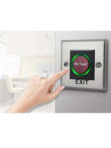Exit-Button Back-Lights No-Touch-Panel Blue with Palm-Sensing 12cm No/nc/com-output Up