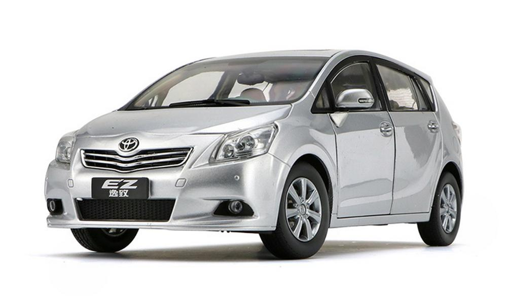 1/18 Scale TOYOTA EZ VERSO Silver Diecast Car Model Toy Collection Gift