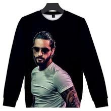 Popular Hip Hop 3D Capless Sweatshirt Polluver Boys/girls Tops Men/women Hoodies Maluma Sweatshirt Maluma 3D Print Sweatshirt