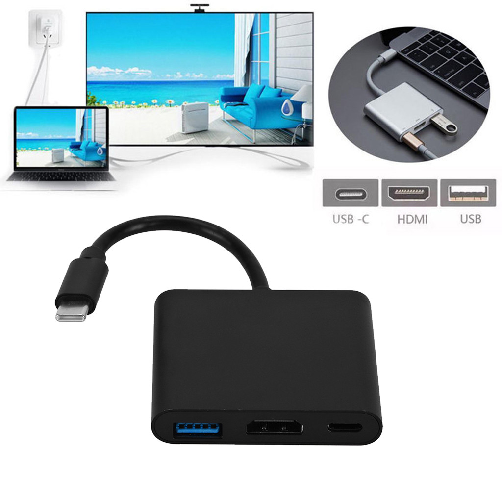 Ultimate Sale3-In1 Converter Hub-Adapter Type-C Macbook/android USB Female Usb-3.0/4k To for Hi-SpeedÑ