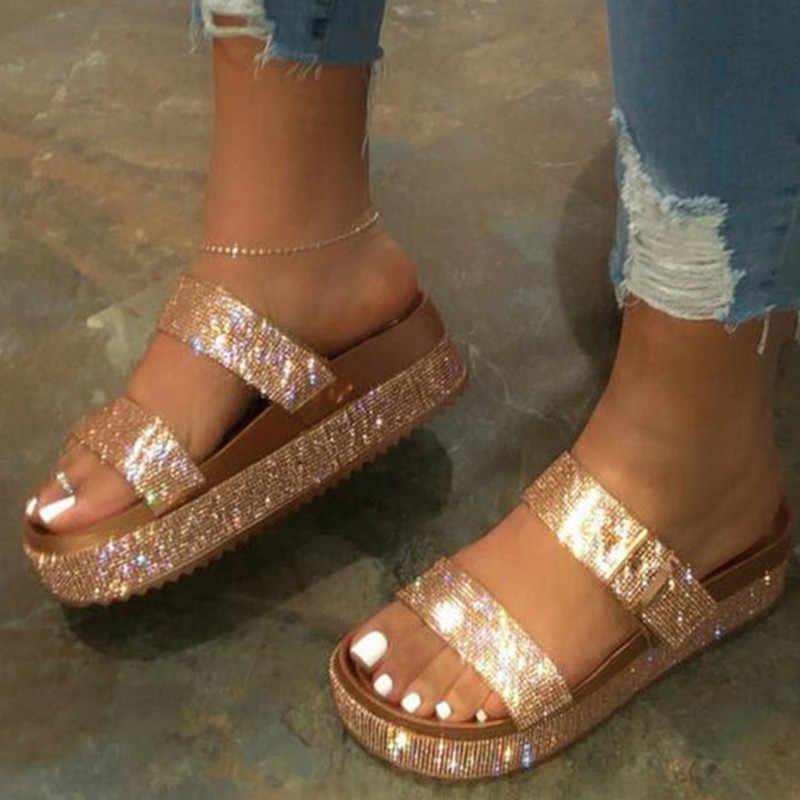 Sepatu Wanita Musim Panas Sandal untuk Wanita Sepatu Nyaman Sandal Wanita Retro Wedge Tumit Rendah Sepatu Tebal Bawah Wanita Sandal