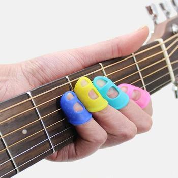 1 бр. Китарен силиконов протектор за пръсти, гел, предпазители за пръсти, китарни струни, предпазители за пръсти, палец за нокти