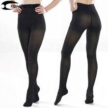 YISHENG pantalones de compresión médica para mujer, pantimedias de compresión con punta cerrada alta, venas varicosas