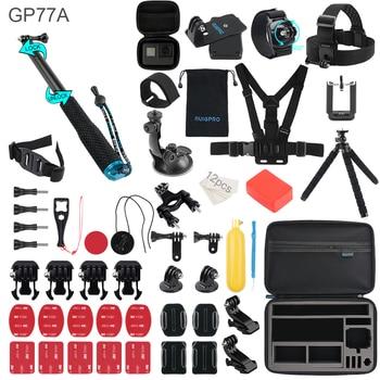 For Gopro Accessories Set For go pro hero 9 8 7 6 5 4 3 kit 3 way selfie chest head strap stick For Eken h8r xiaomi yi EVA case