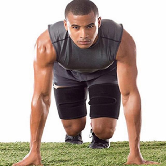 1 Pair Fitness Sports Compress Belt Sweat Absorb Training Leg Shaper Slimming Running Protective Slender Sauna Neoprene 5
