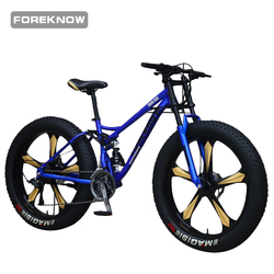 FOREKNOW 26 Inch Wheel Fat Bike Beach Snowmobile Mountain Bike 27 Speed Sports Cycling Road Bicycle Men Racing Front  Fork Ride
