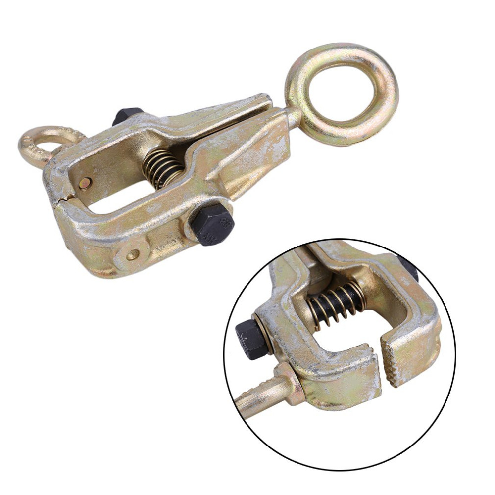 2 WAY FRAME BACK 5 TON SELF-TIGHTENING GRIP AUTO BODY REPAIR PULL CLAMP