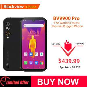Blackview BV9900 Pro Fastest Thermal imaging Smartphone Helio P90 Android 9.0 6GB+128GB 48MP Waterproof Rugged Mobile Phone