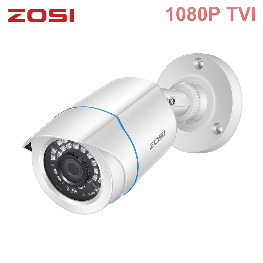 ZOSI 1080P Surveillance Video 2MP TVI Camera IR-Cut Waterproof Outdoor Indoor CCTV System