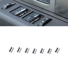 Araba pencere düğmesi dekorasyon Sequins çıkartmalar Ford F 150 2009 2010 2011 2012 2013 2014 İç aksesuar Styling ABS krom
