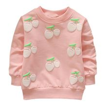 Baby Girls Cherry Sweatshirts Long Sleeves
