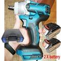 Аккумуляторный ударный гайковерт 18 в 588N.m li-ion, динамометрический ключ 1/2 '', электрическая Замена гаечного ключа для аккумулятора Makita, домашн...