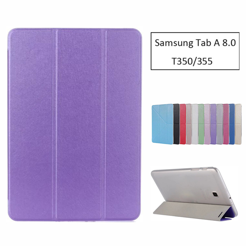 Luxury Stand Pu Leather Case Cover For Samsung Galaxy Tab A 8.0 2016 T350 T355 SM-P350 tablet funda cases