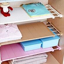 35cm width Retractable Closet Organizer Shelf Adjustable Kitchen Cabinet Storage Holder Cupboard Rack Wardrobe Organizer Shelf