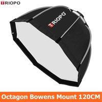 TRIOPO 120cm Octagon Softbox Diffuser Reflector w/Bowens Mount Light Box for photography Studio Strobe Flash Light accessories
