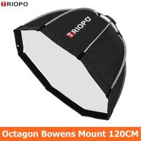 TRIOPO 120cm Octagon Softbox Diffuser Reflector w/Bowens Mount Light Box for photography Studio Strobe Flash Light accessories