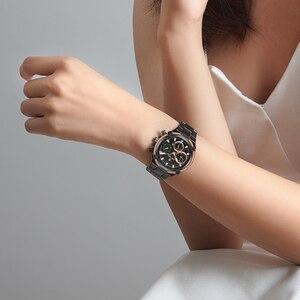 Image 5 - KADEMAN montre de luxe pour femmes, montre bracelet à Quartz, Design classique, avec bracelet en acier, Date, pour filles