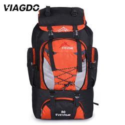 80L Camping Hiking Backpacks Large Outdoor Bag Backpack Nylon superlight Sport Travel Bag Sport Hiking Rucksack Waterproof